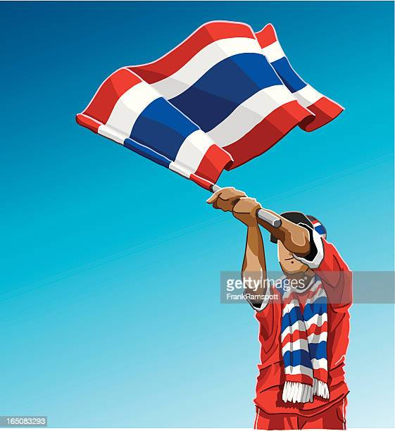 Thailand Waving Flag Soccer Fan