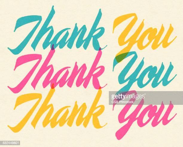 ilustraciones, imágenes clip art, dibujos animados e iconos de stock de muchas gracias - gracias