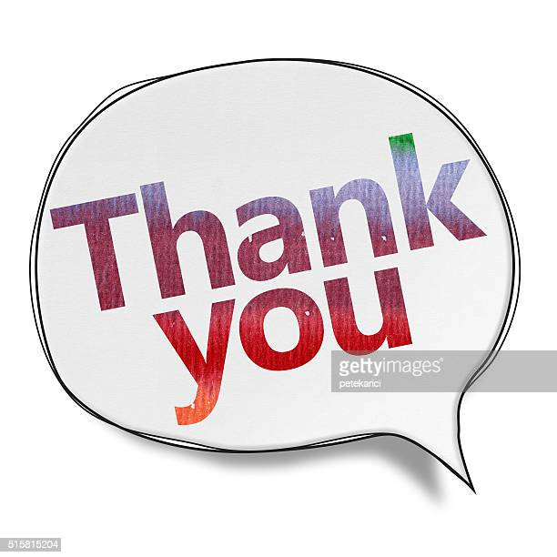 thank you - speech bubbles (clipping path) - thanks quotes stock illustrations