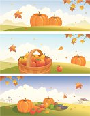 Thanksgiving and harvest banners