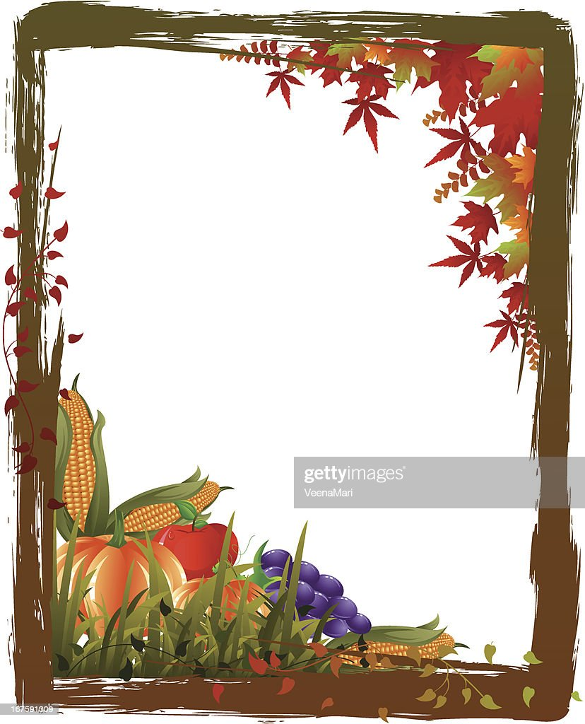Thanksgiving Frame Vector Art | Getty Images