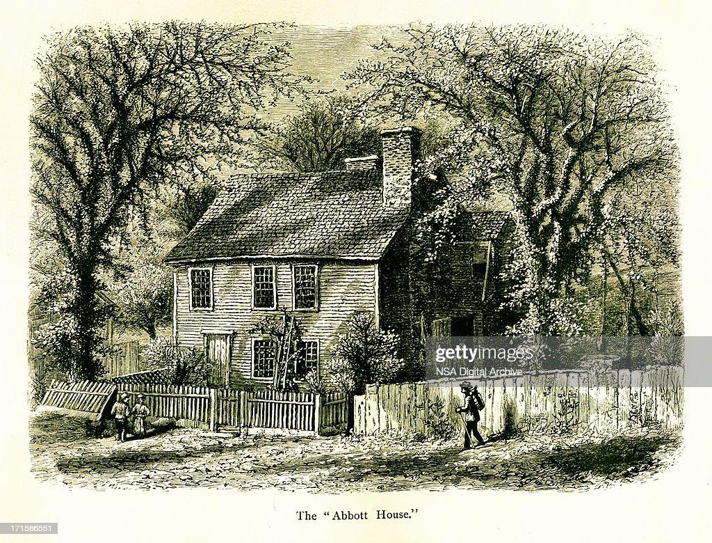 The Abbott House Providence Rhode Island stock illustration
