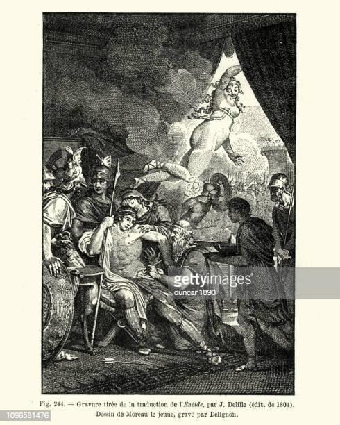 the aeneid, by virgil - venus roman goddess stock illustrations, clip art, cartoons, & icons