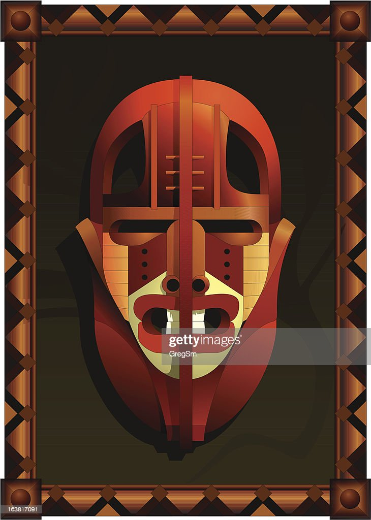 The African fighting mask