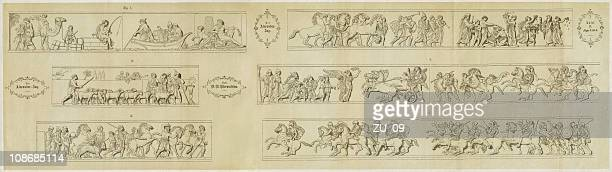 the alexander campaign - ancient greece stock illustrations, clip art, cartoons, & icons