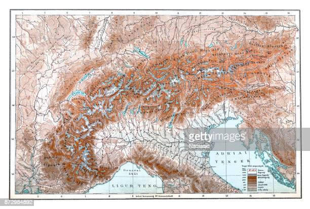 the alps - geology stock illustrations, clip art, cartoons, & icons