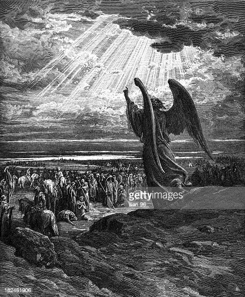 the angel appears to joshua - old testament stock illustrations
