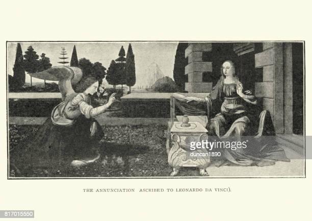 The Annubciation ascribed to Leonardo Da Vinci