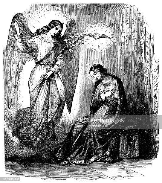 the annunciation - annunciation stock illustrations, clip art, cartoons, & icons