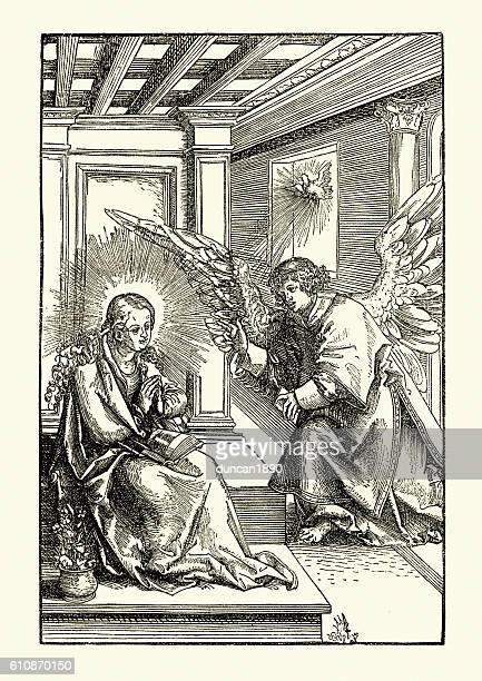 illustrations, cliparts, dessins animés et icônes de the annunciation of the virgin mary - lannonciation