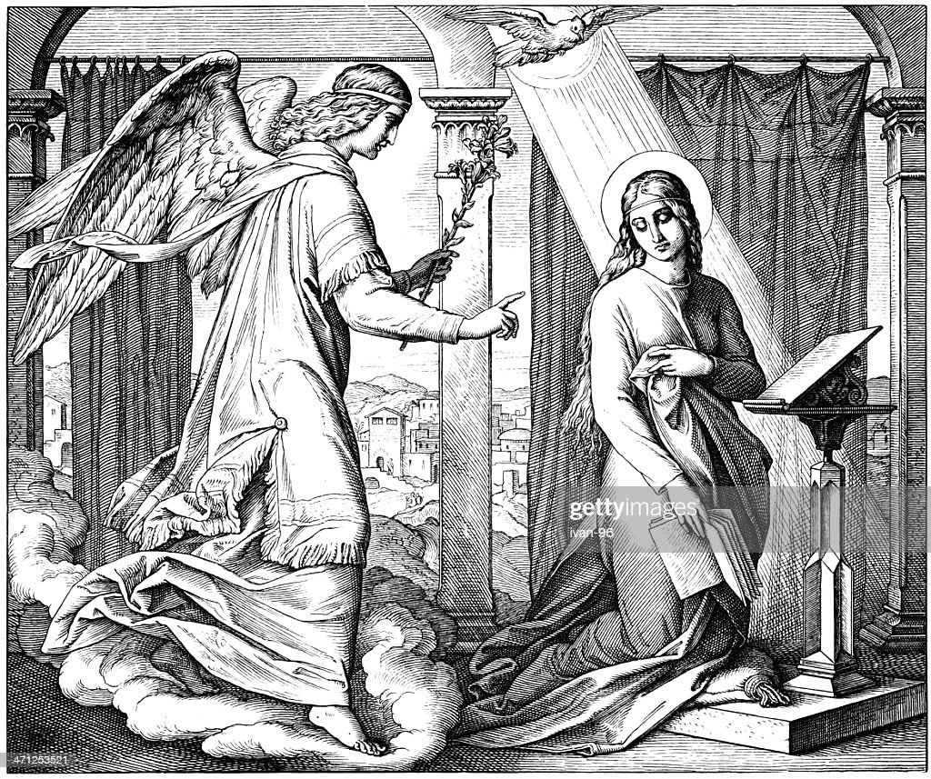 The Annunciation to Mary : stock illustration