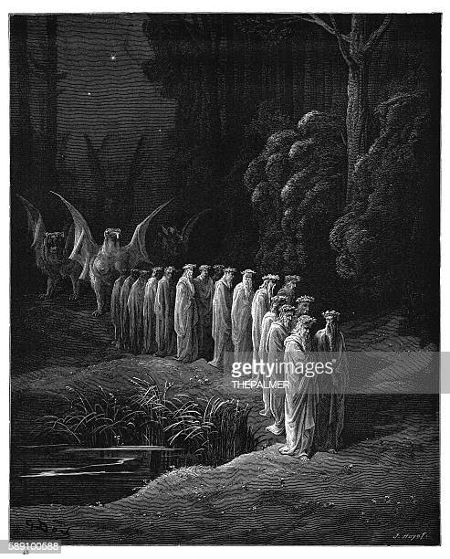 The Apocalyptic Procession engraving 1870