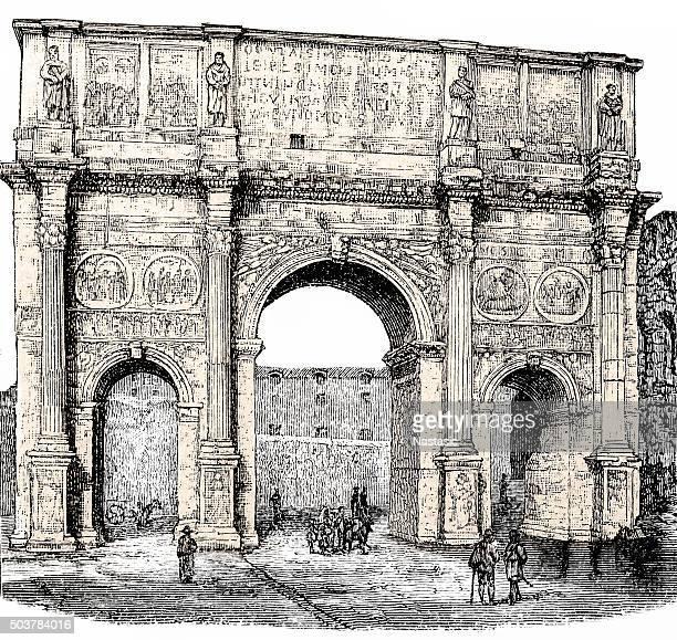 O Arco de Constantino, Roma, Itália