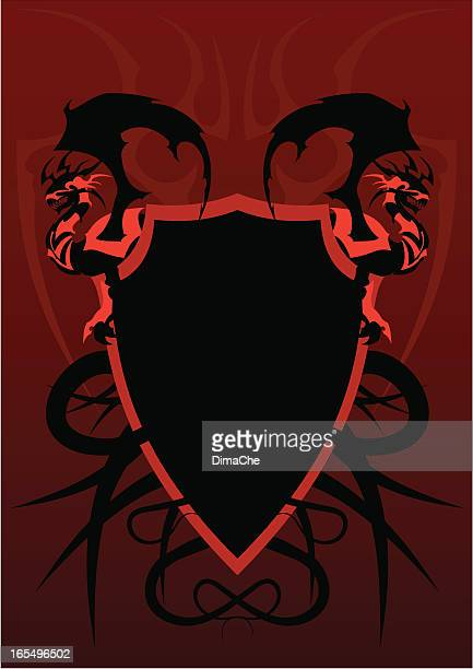 the armour of a dragon - animal body part stock illustrations, clip art, cartoons, & icons