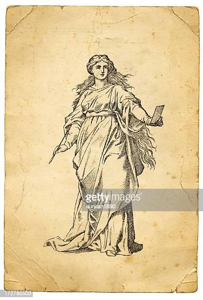 ilustraciones, imágenes clip art, dibujos animados e iconos de stock de el artista - roman goddess