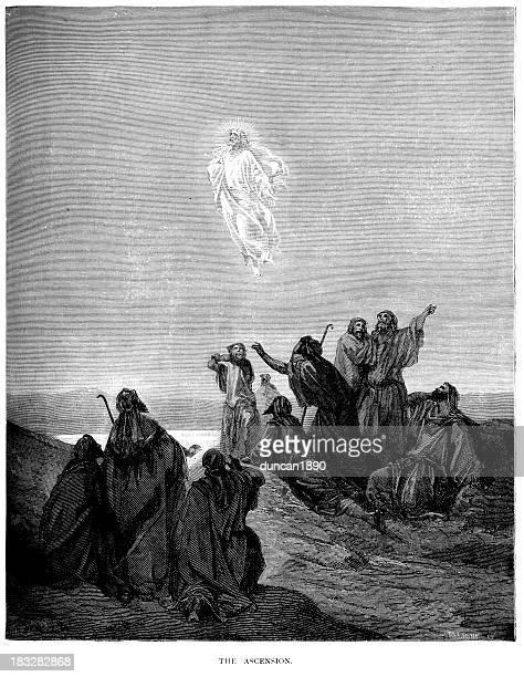 illustrations, cliparts, dessins animés et icônes de l'ascension - ascension of jesus christ