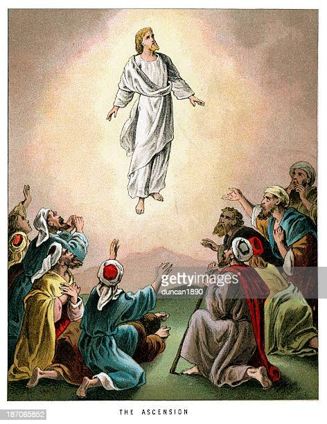 the ascension - jesus christ stock illustrations, clip art, cartoons, & icons