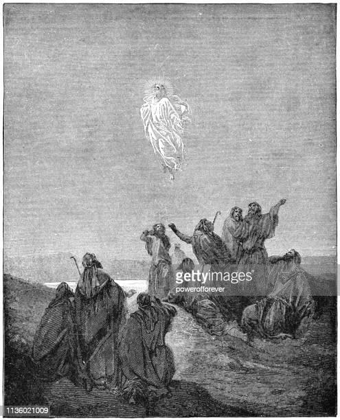 illustrations, cliparts, dessins animés et icônes de l'ascension du christ par gustave dore-19ème siècle - ascension of jesus christ