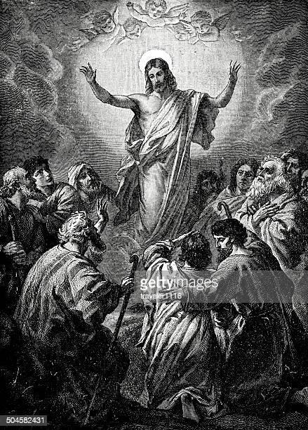 illustrations, cliparts, dessins animés et icônes de l'ascension de jesus - ascension of jesus christ