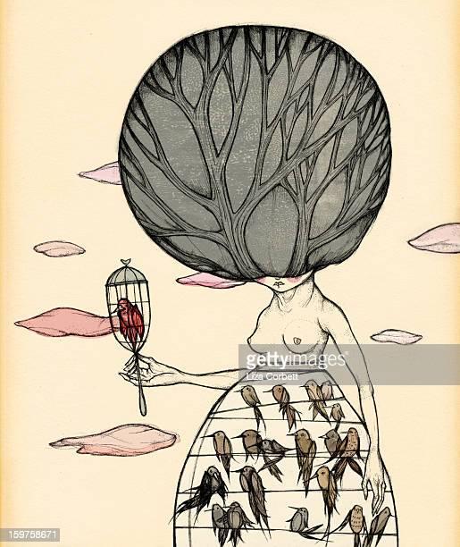 ilustraciones, imágenes clip art, dibujos animados e iconos de stock de the aviary - grupo grande de animales