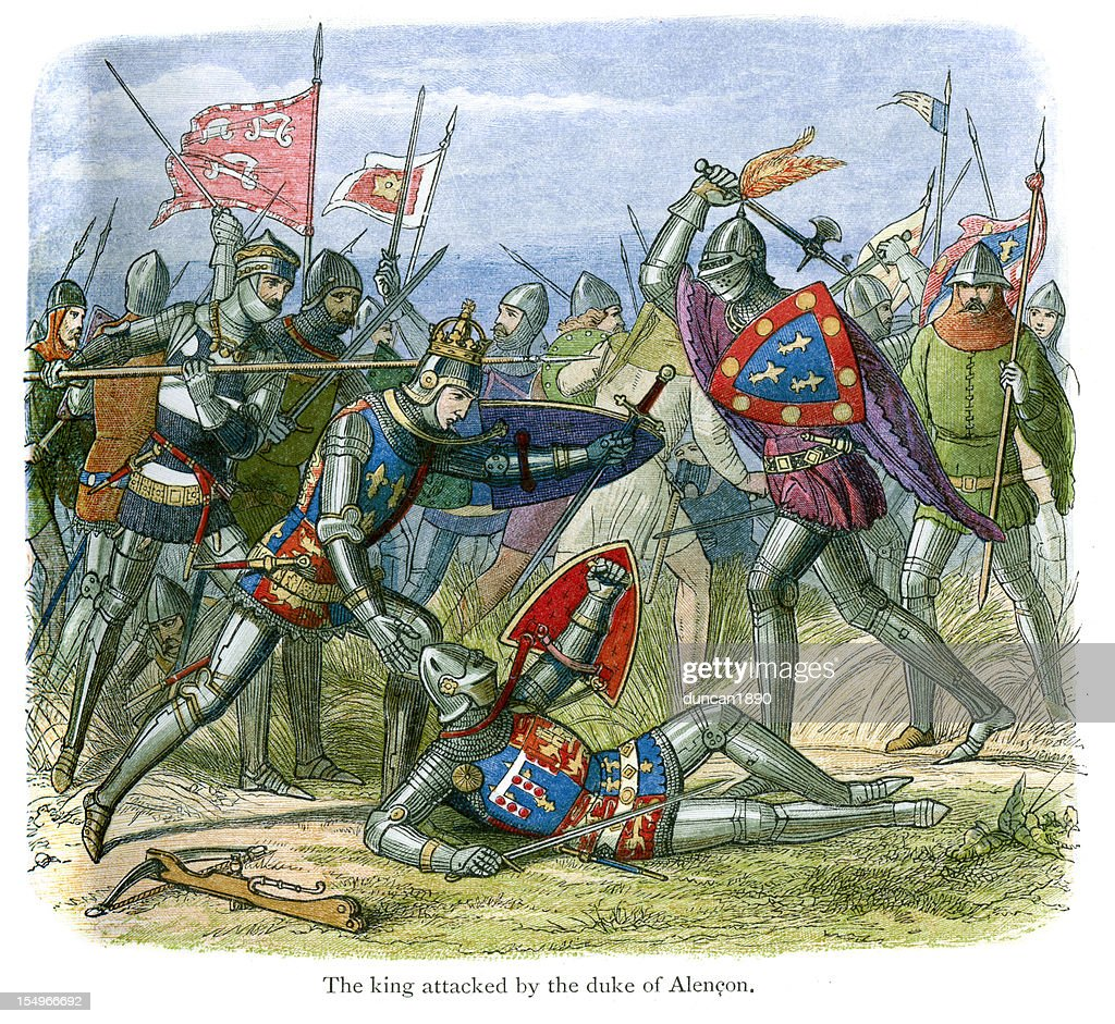 The Battle of Agincourt : stock illustration