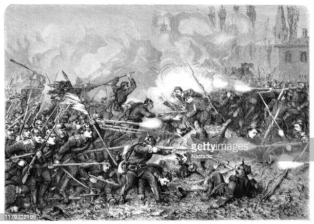 the battle of amiens, also known as the third battle of picardy, was the opening phase of the allied offensive which began on 8 august 1918, later known as the hundred days offensive, that ultimately led to the end of the first world war - world war i stock illustrations