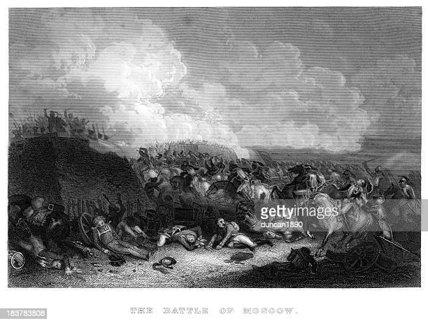 illustrations, cliparts, dessins animés et icônes de la bataille de moscou - guerres napoléoniennes