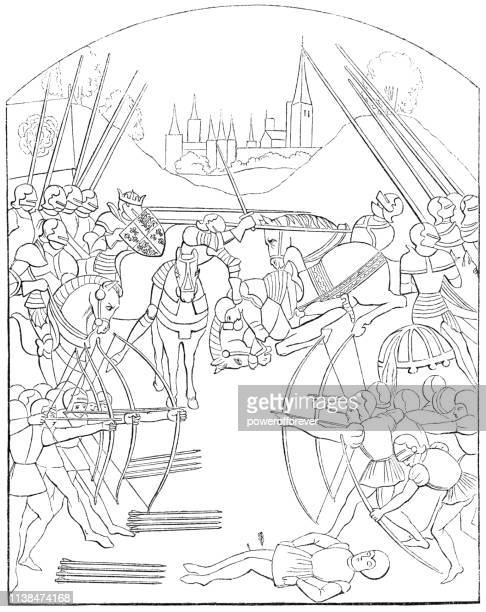 The Battle of Tewkesbury during the War of the Roses - 15th Century