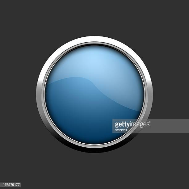 the big blue button - template stock illustrations