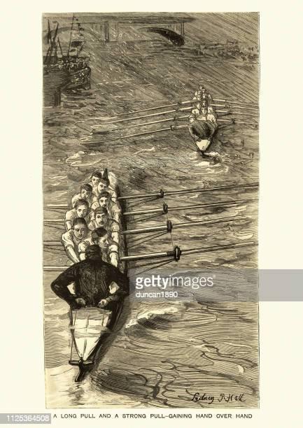 The Boat Race, Oxford vs. Cambridge, 19th Century