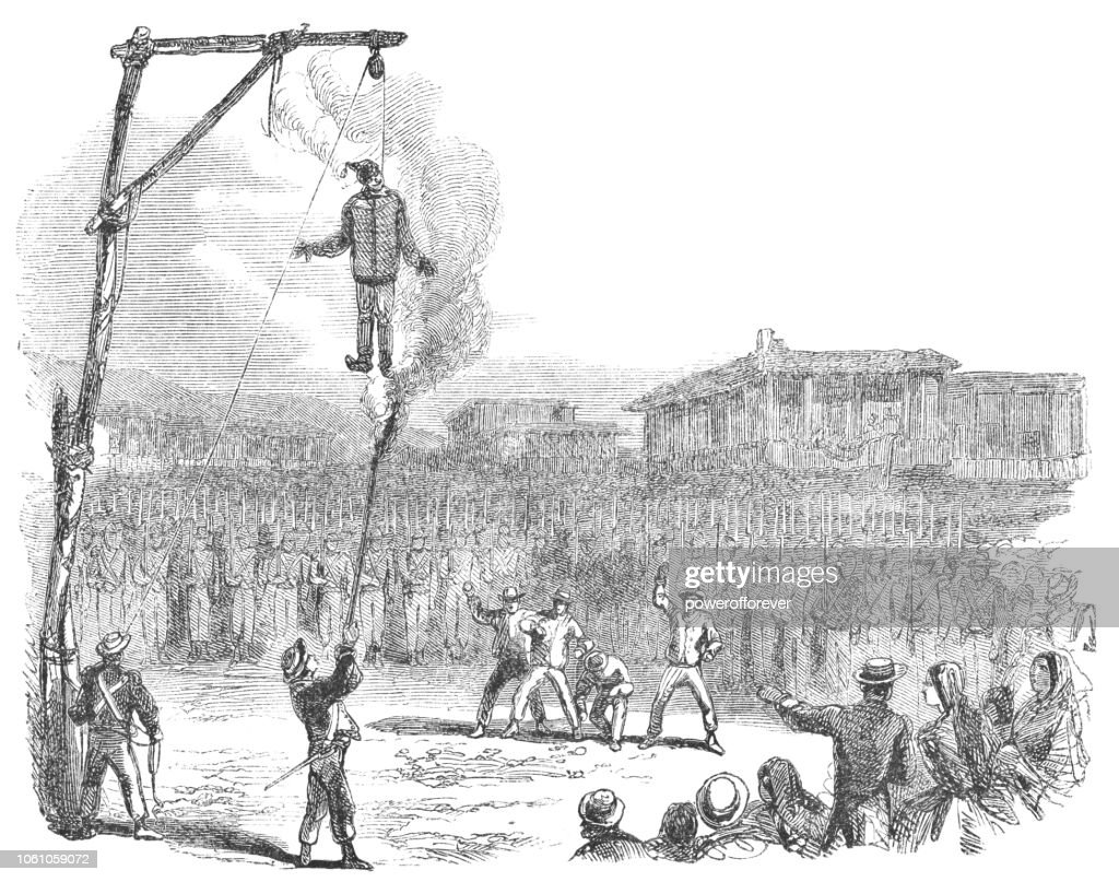 The Burning of Judas Easter Ritual in San José, Costa Rica (19th Century) : Stock Illustration