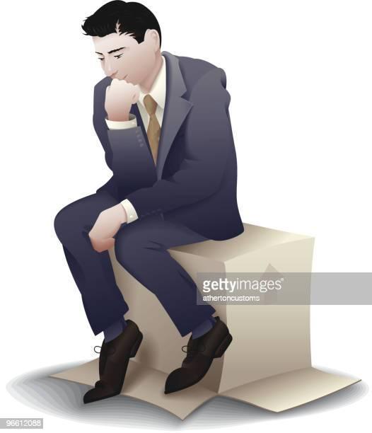business-denker - full suit stock-grafiken, -clipart, -cartoons und -symbole