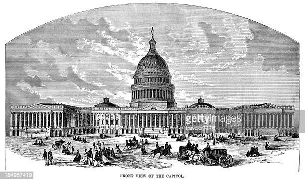 the capitol building - architectural dome stock illustrations, clip art, cartoons, & icons