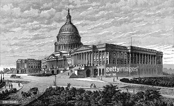 ilustrações, clipart, desenhos animados e ícones de o capitol washington - pediment
