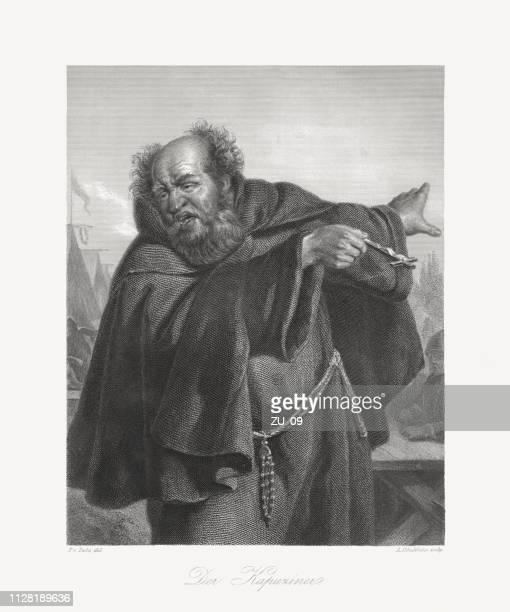 The Capuchin, literary figure (Wallenstein's camp) by Friedrich Schiller