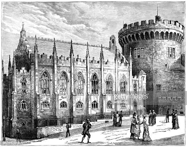 The Chapel Royal, Dublin Castle (Victorian engraving)