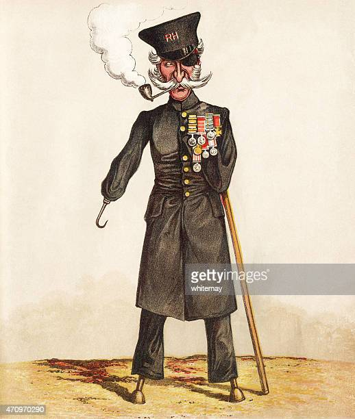 The Chelsea Pensioner war veteran - Victorian print