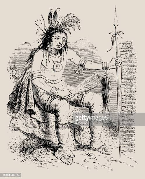 The Chippewa (Ojibwe) warrior