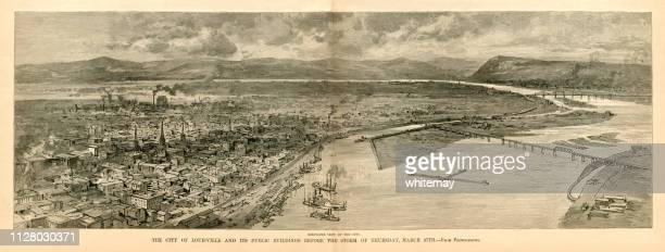 The City of Louisville, Kentucky, before the Great Storm of 1890