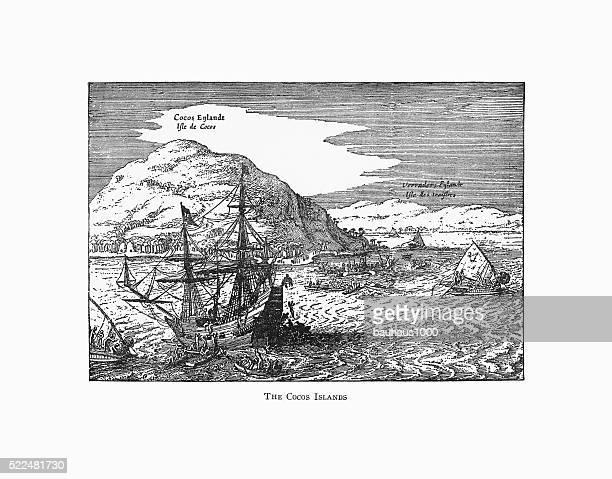 The Cocos Islands Dutch Navigation, Victorian Illustration