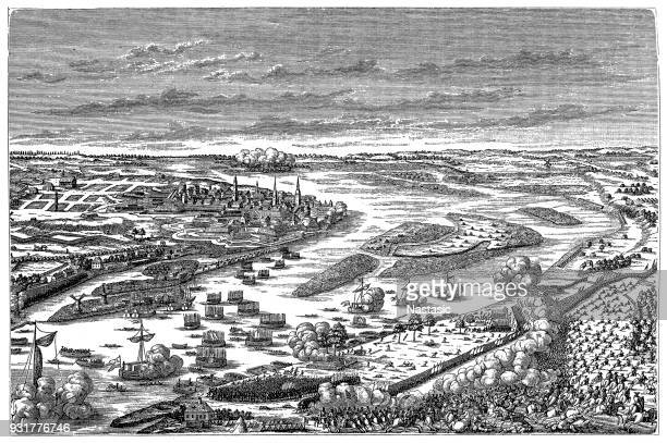 The Crossing of the Düna (also known as Battle of Riga) ,Swedish king Charles XII was in hot pursuit of king Augustus II the Strong