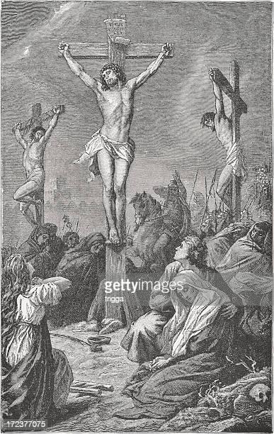 the crucifixion - the crucifixion stock illustrations, clip art, cartoons, & icons