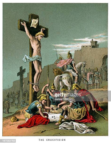 the crucifixion - jesus christ stock illustrations, clip art, cartoons, & icons