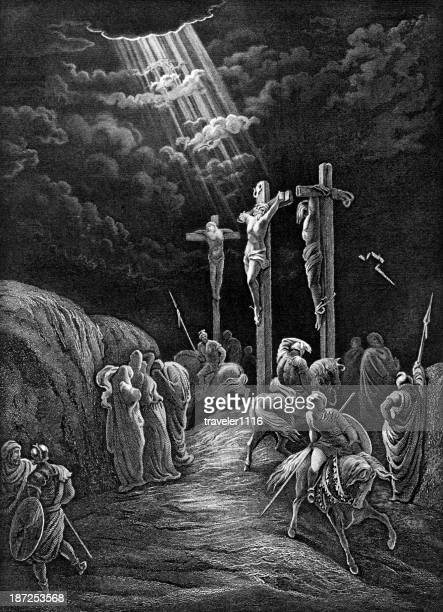 the crucifixion of jesus - the crucifixion stock illustrations, clip art, cartoons, & icons