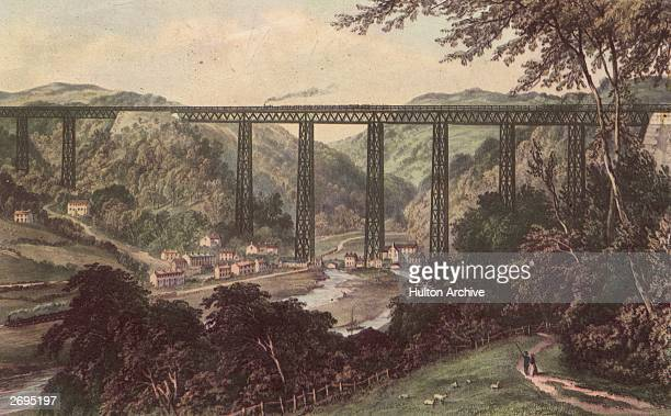 The Crumlin Viaduct in Monmouthshire, designed by Charles Liddell.
