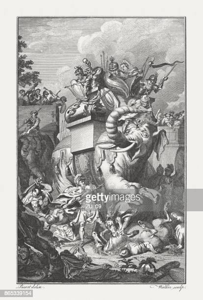 the dangerous enterprise of eleazar (1 maccabees 6), published 1774 - political rally stock illustrations, clip art, cartoons, & icons