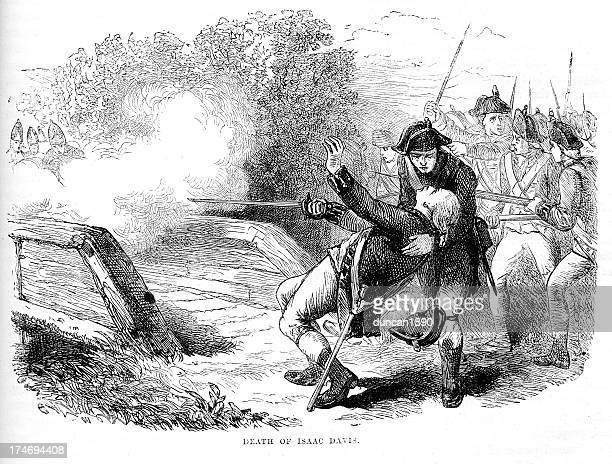 ilustraciones, imágenes clip art, dibujos animados e iconos de stock de the dead de isaac davis - american revolution