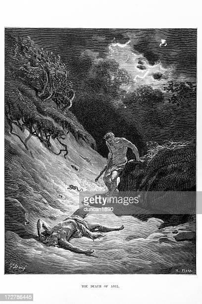 ilustraciones, imágenes clip art, dibujos animados e iconos de stock de la muerte de abel - los siete pecados capitales