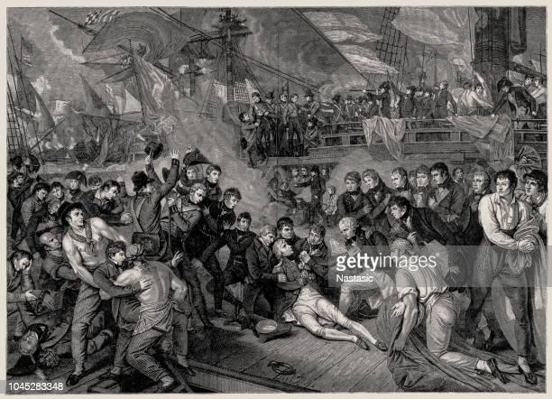 illustrations, cliparts, dessins animés et icônes de la mort du seigneur vicomte nelson - guerres napoléoniennes