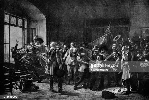 illustrations, cliparts, dessins animés et icônes de la défenestration par vôclav broak - 19ème siècle - protestantisme